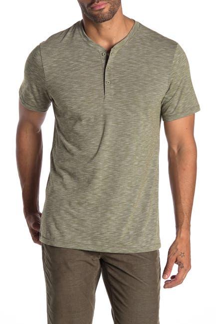 Image of Public Opinion Short Sleeve Spacedye Henley T-Shirt