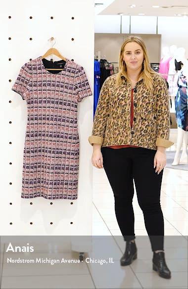 Monarch Textured Tweed Knit Sheath Dress, sales video thumbnail
