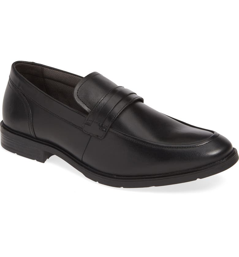 HUSH PUPPIES<SUP>®</SUP> Advice Loafer, Main, color, BLACK LEATHER