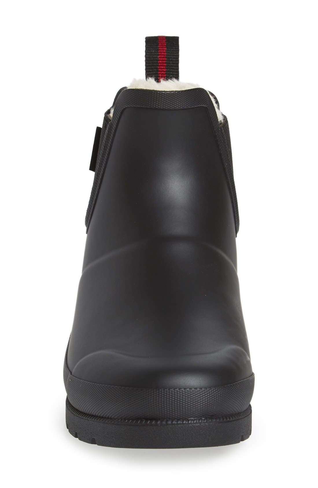 ,                             Chelsea Rain Boot,                             Alternate thumbnail 3, color,                             BLACK