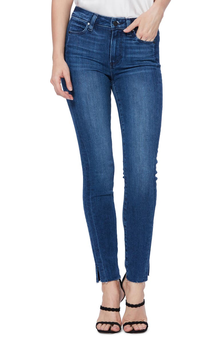 Hoxton High Waist Side Slit Ankle Skinny Jeans by Paige