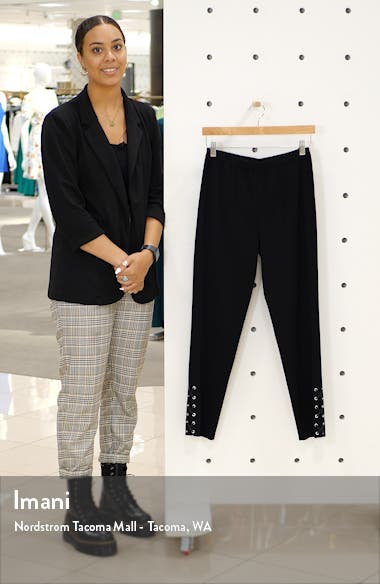Lace-Up Detail Slim Knit Pants, sales video thumbnail