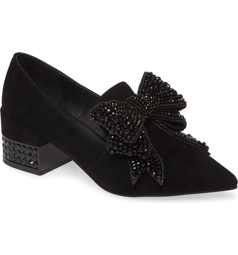 JEFFREY CAMPBELL Valensia Pump, Main, color, BLACK SUEDE BLACK