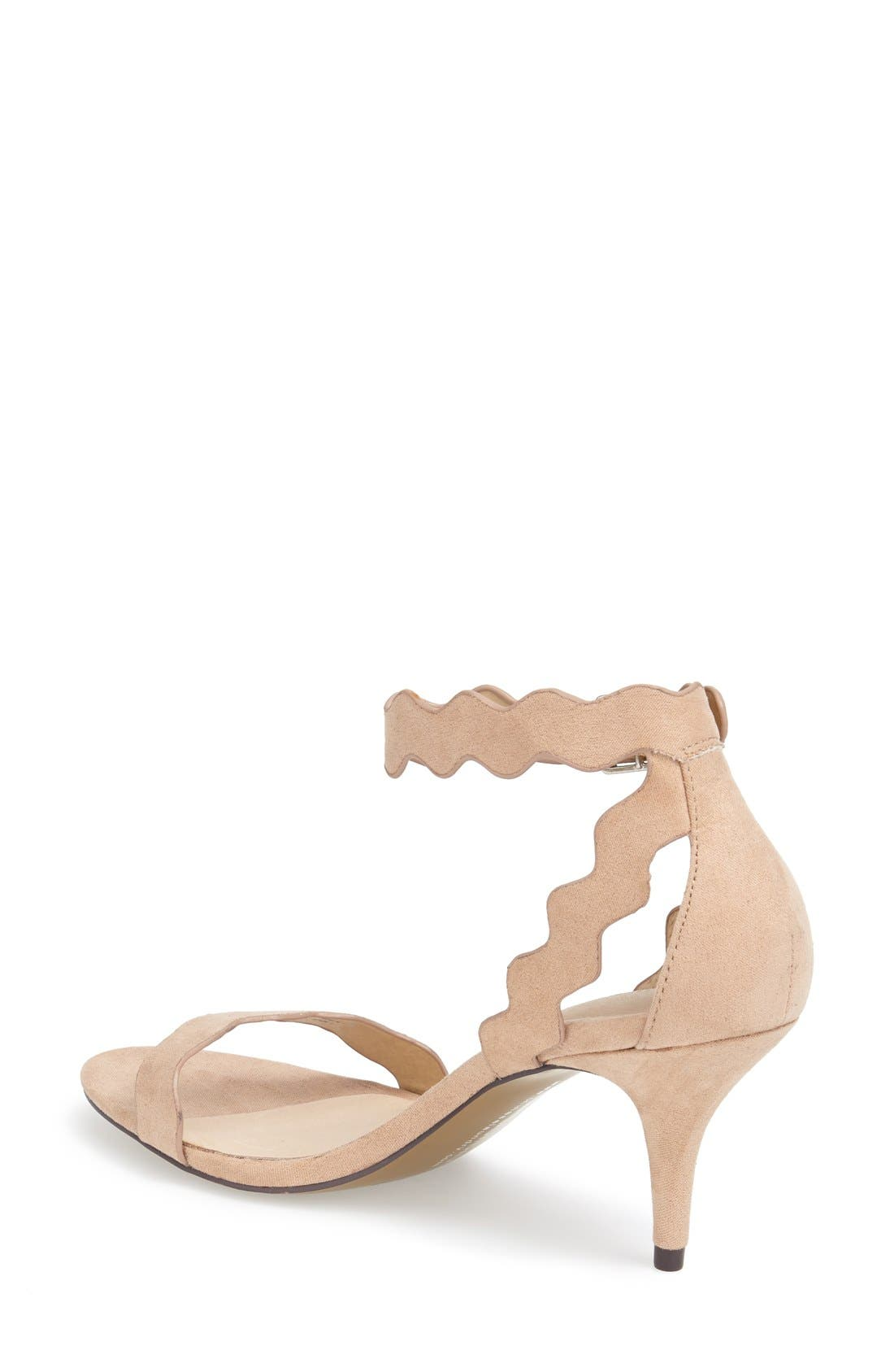 ,                             'Rubie' Scalloped Ankle Strap Sandal,                             Alternate thumbnail 12, color,                             255