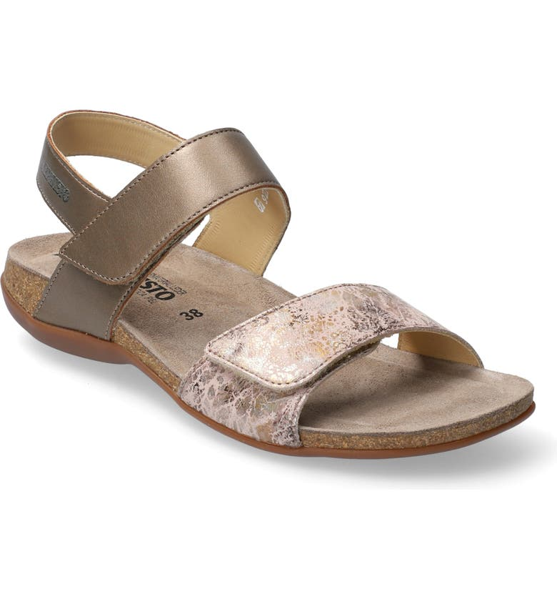 MEPHISTO 'Agave' Sandal, Main, color, PEWTER METALLIC LEATHER