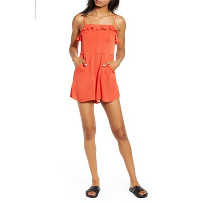 Lira Clothing Isla Romper, Red