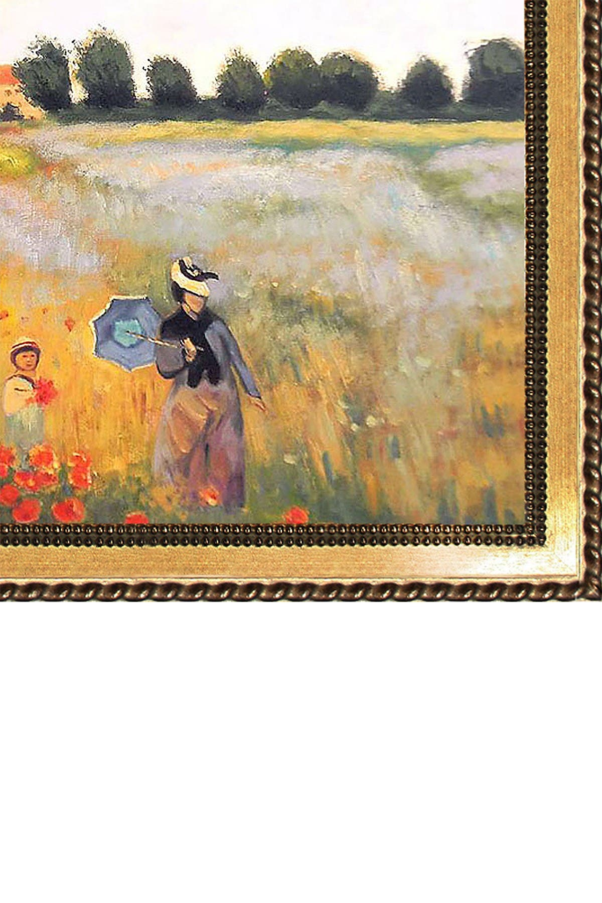 Image of Overstock Art Claude Monet, Poppy Field in Argenteuil Oil on Canvas Wall Art