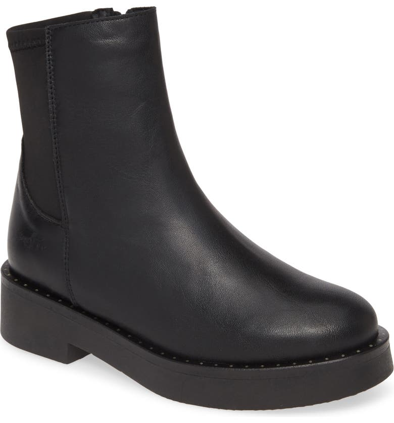 BOS. & CO. Flame Waterproof Boot, Main, color, BLACK LEATHER