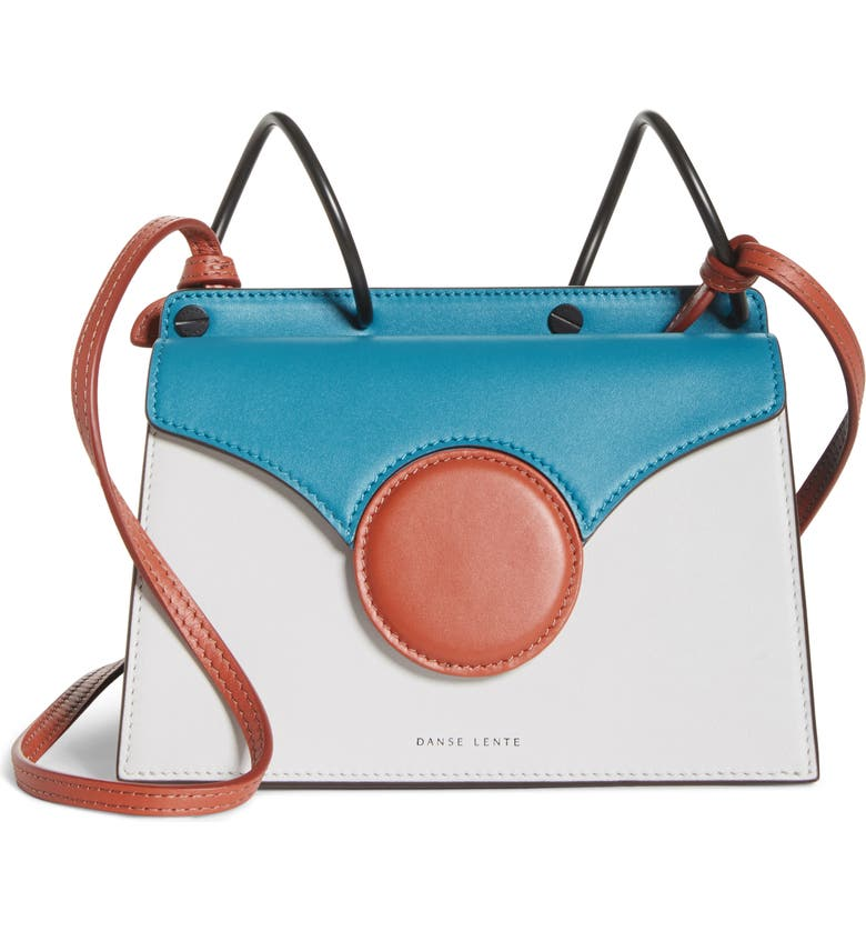 DANSE LENTE Mini Phoebe Leather Bag, Main, color, HAWAIIAN BLUE