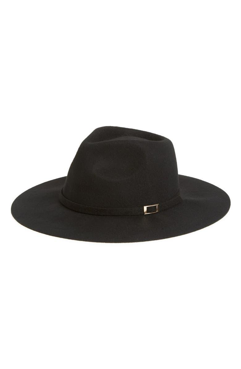 SHIRALEAH 'Yves' Wool Hat, Main, color, 001