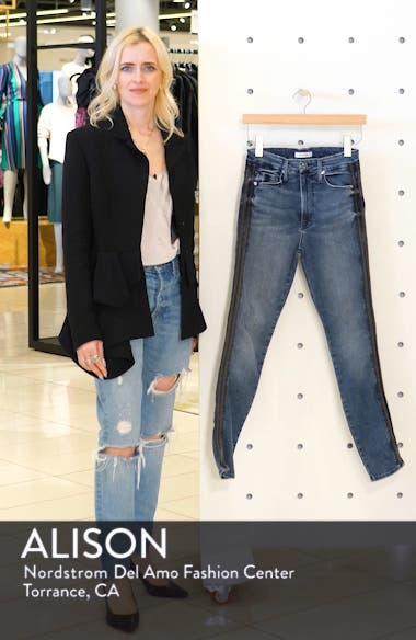 Good Waist Stripe Skinny Jeans, sales video thumbnail