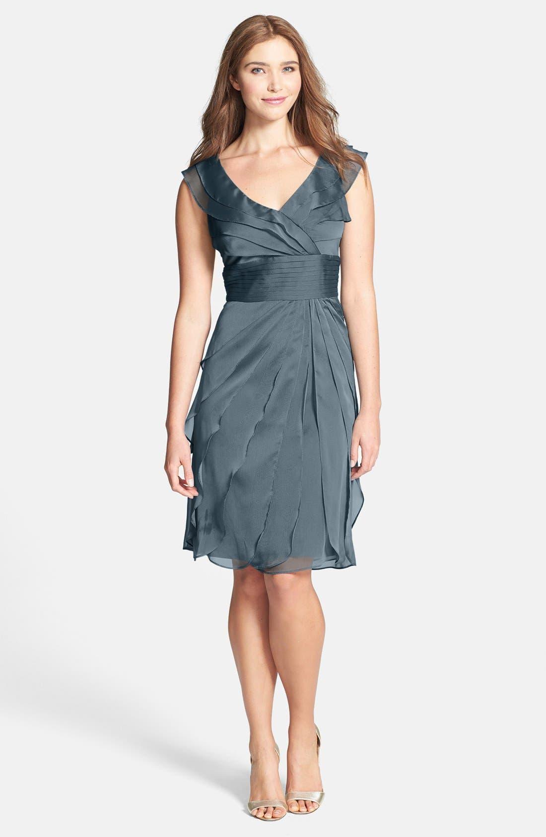 ,                             Tiered Chiffon Dress,                             Main thumbnail 35, color,                             456