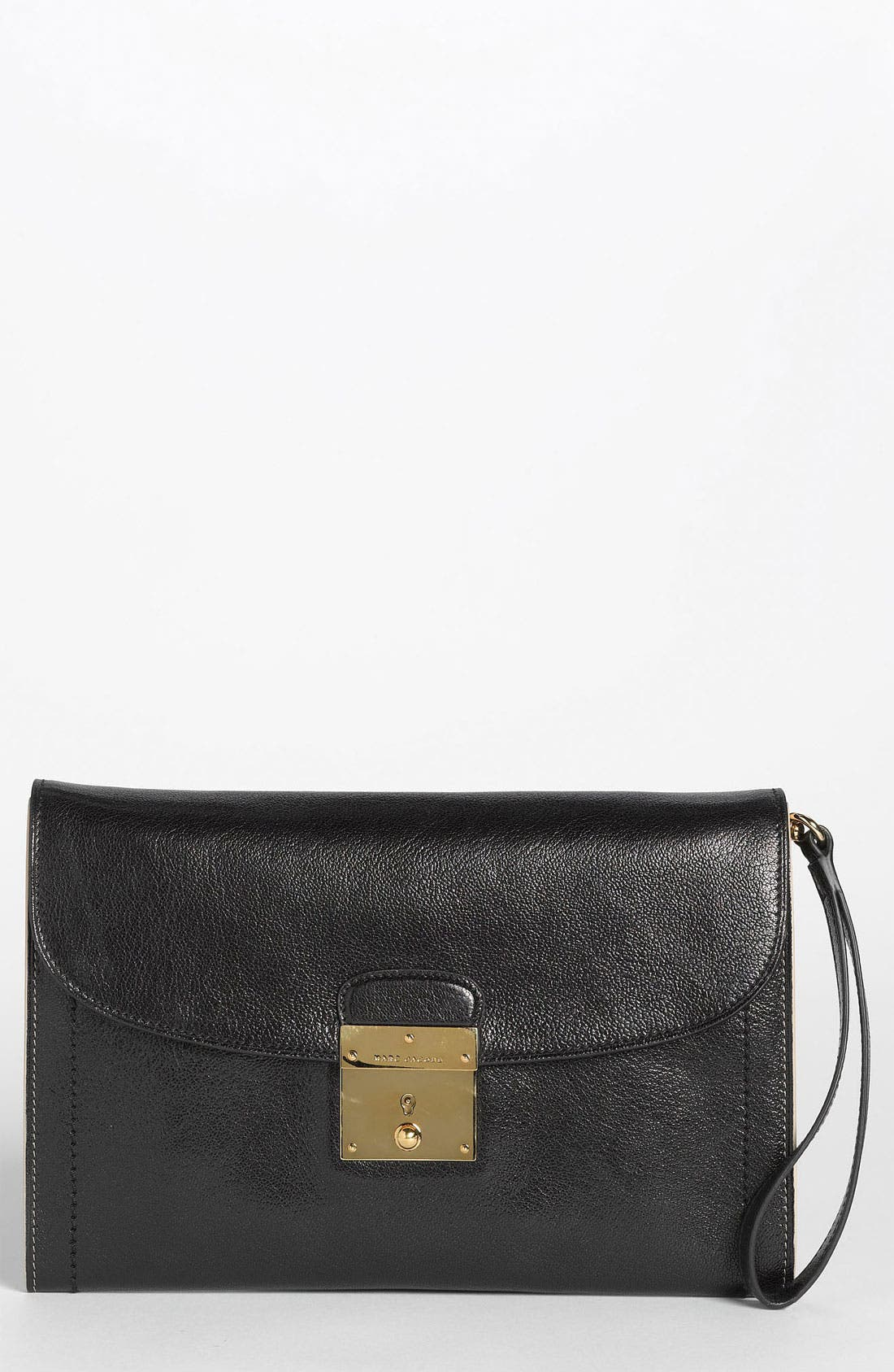 '1984 Isobel' Leather Clutch, Main, color, 001