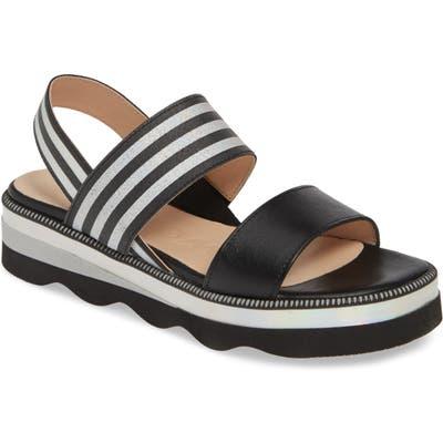 Wonders Platform Sandal, Black