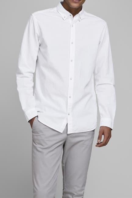 Image of JACK & JONES Solid Summer Slim Fit Shirt