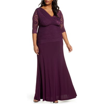 Plus Size Kiyonna Soiree Evening Gown, Purple
