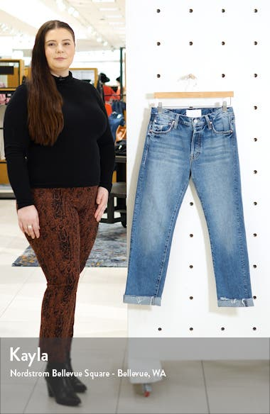 The Scrapper High Waist Frayed Cuff Ankle Jeans, sales video thumbnail