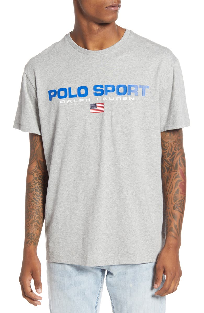 POLO RALPH LAUREN Polo Sport T-Shirt, Main, color, ANDOVER HEATHER