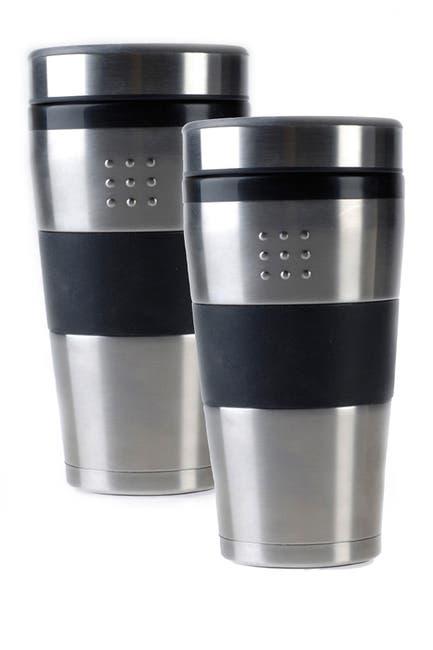 Image of BergHOFF Silver Travel 16 oz. Mug - Set of 2