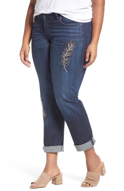Image of KUT from the Kloth Catherine Embroidered Boyfriend Jeans
