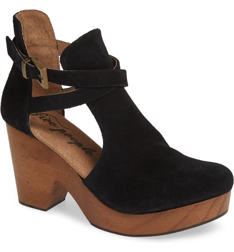FREE PEOPLE Cedar Clog, Main, color, BLACK LEATHER
