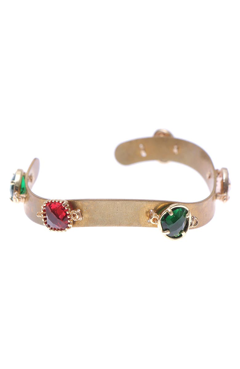 NAKAMOL DESIGN Metal Bracelet Cuff, Main, color, MIX GOLD