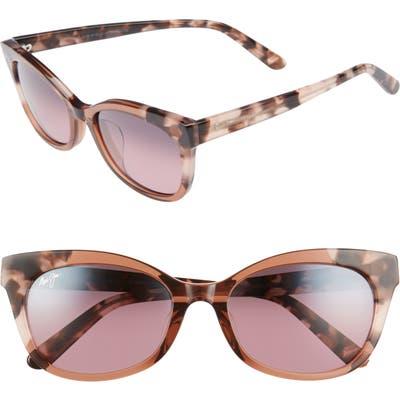 Maui Jim Ilima 5m Polarizedplus2 Cat Eye Sunglasses - Pink W/ Tokyo Tortoise/ Rose