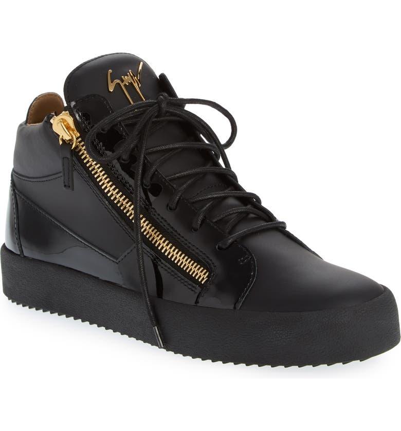 GIUSEPPE ZANOTTI Mid Top Sneaker, Main, color, NERO-BLACK