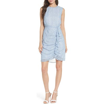Sam Edelman Sleeveless Ruffle Chiffon Dress, Blue