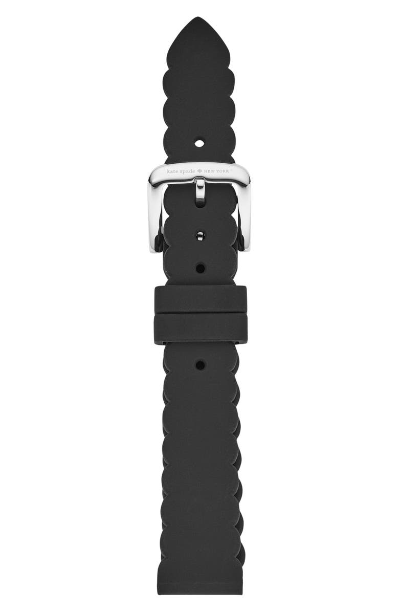 KATE SPADE NEW YORK 16mm scallop smartwatch strap, Main, color, 001