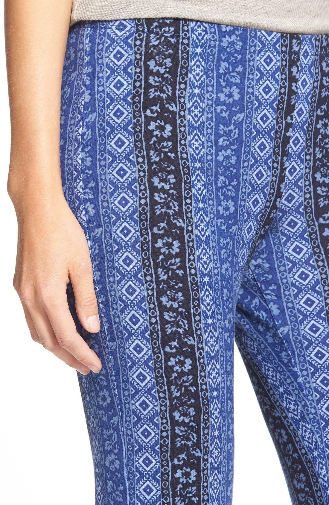 ,                             Mixed Print Flare Leg Pants,                             Alternate thumbnail 107, color,                             470