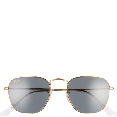 Ray-Ban 51mm Square Sunglasses - Gold/ Blue Solid