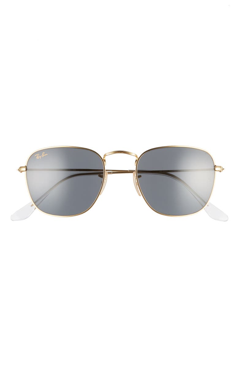 RAY-BAN 51mm Square Sunglasses, Main, color, GOLD/ BLUE SOLID