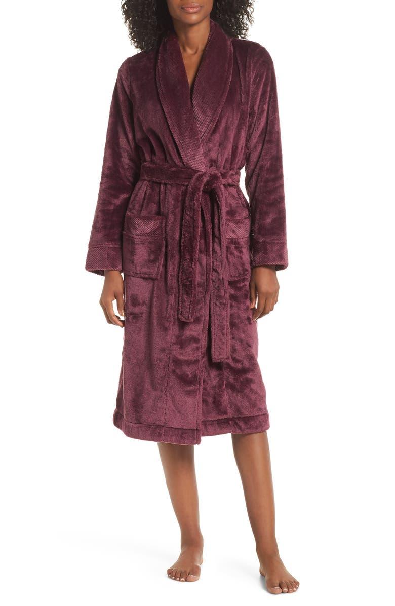NORDSTROM LINGERIE Nordstrom So Soft Plush Robe, Main, color, 501
