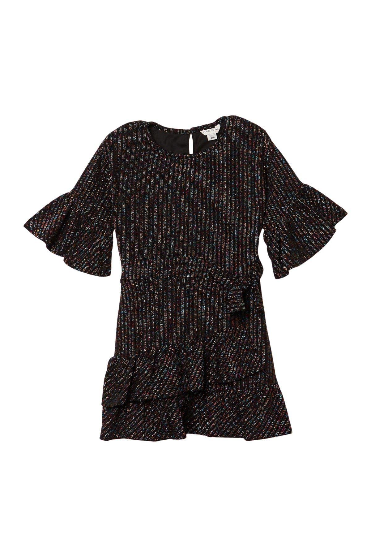 Image of Habitual Remy Knit Rainbow Wrap Dress