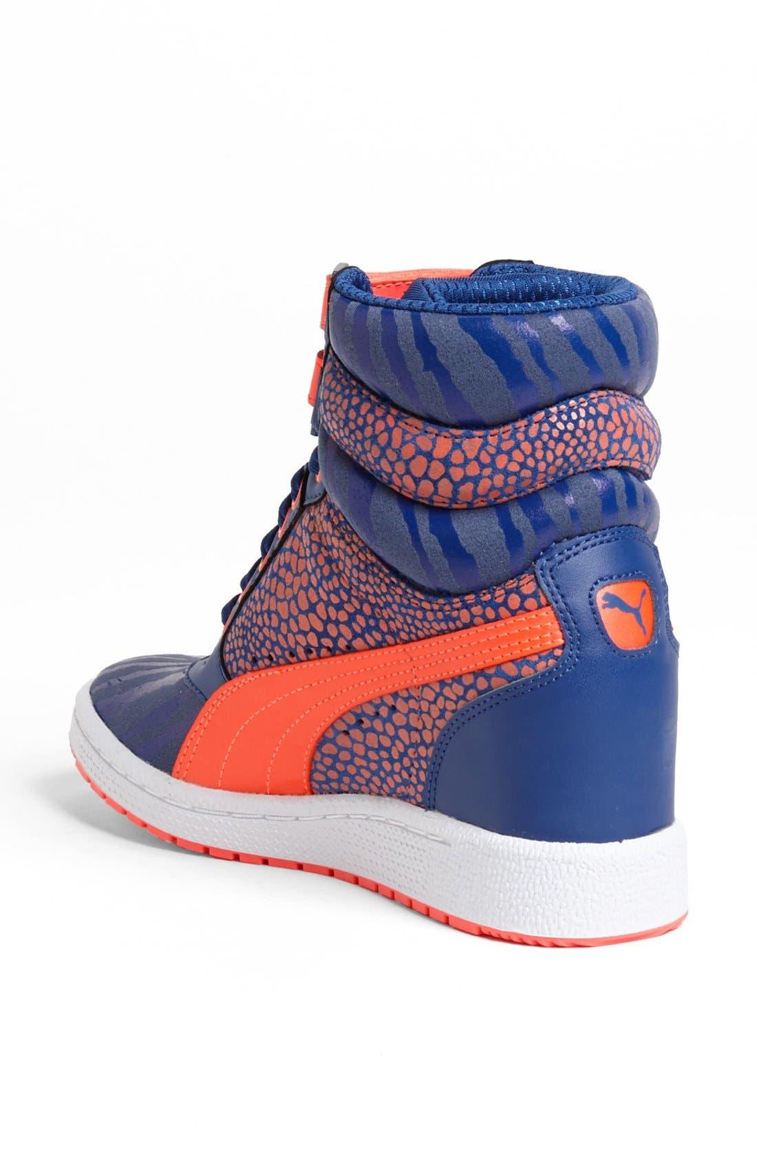 ,                             'Sky Wedge Reptile' Sneaker,                             Alternate thumbnail 8, color,                             460