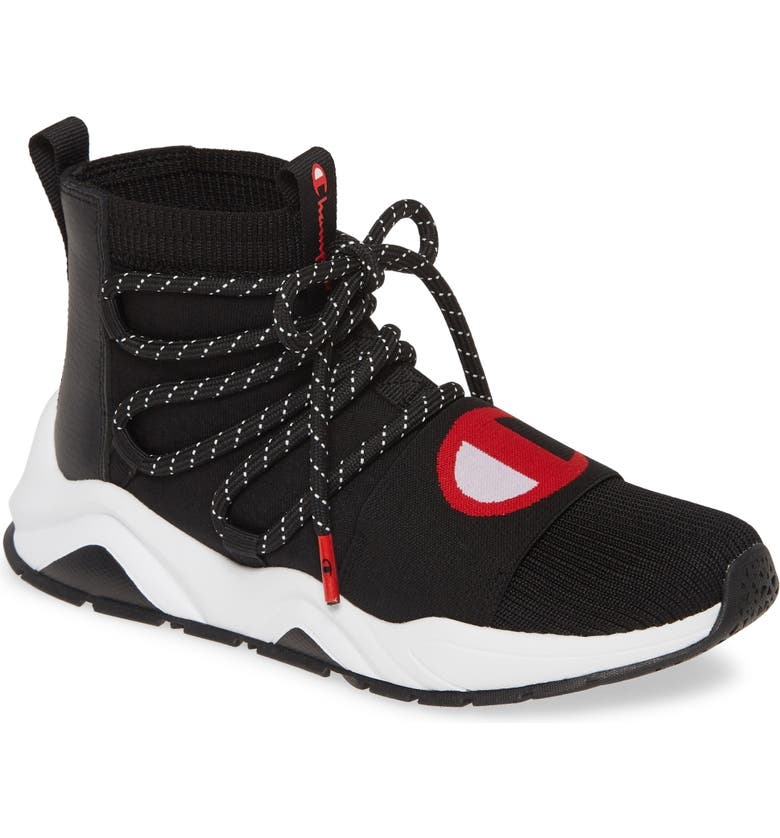 CHAMPION Rally Hype Mid Top Sock Sneaker, Main, color, 004
