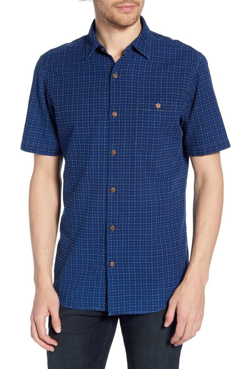 FAHERTY Coast Regular Fit Print Organic Cotton Shirt, Main, color, 410