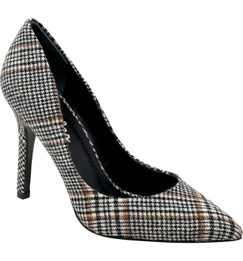 CHARLES BY CHARLES DAVID Maxx Pointed Toe Pump, Main, color, BLACK PLAID FABRIC