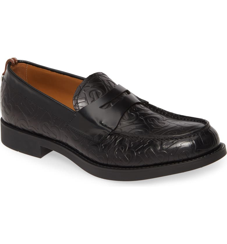BURBERRY Emile Penny Loafer, Main, color, BLACK