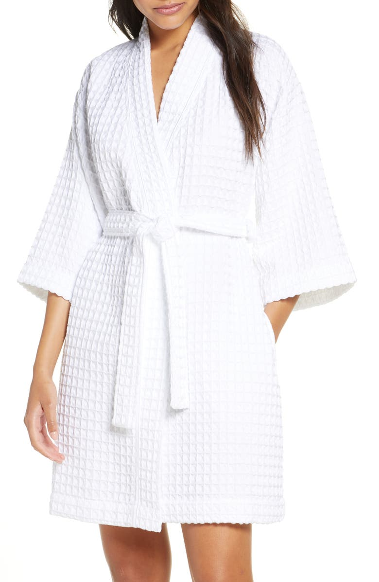 NORDSTROM Modern Waffle Robe, Main, color, 100