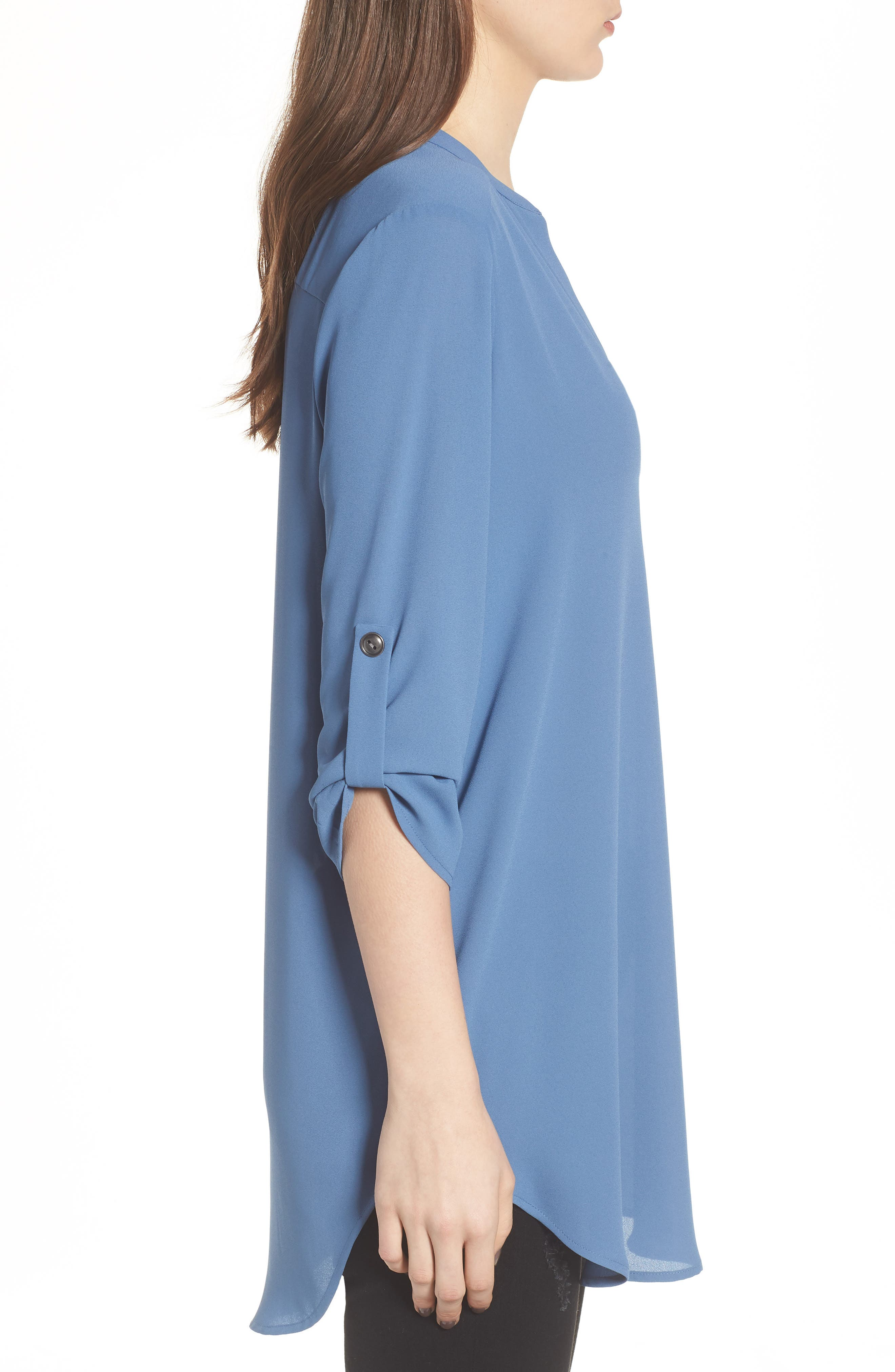 ,                             Perfect Roll Tab Sleeve Tunic,                             Alternate thumbnail 281, color,                             424