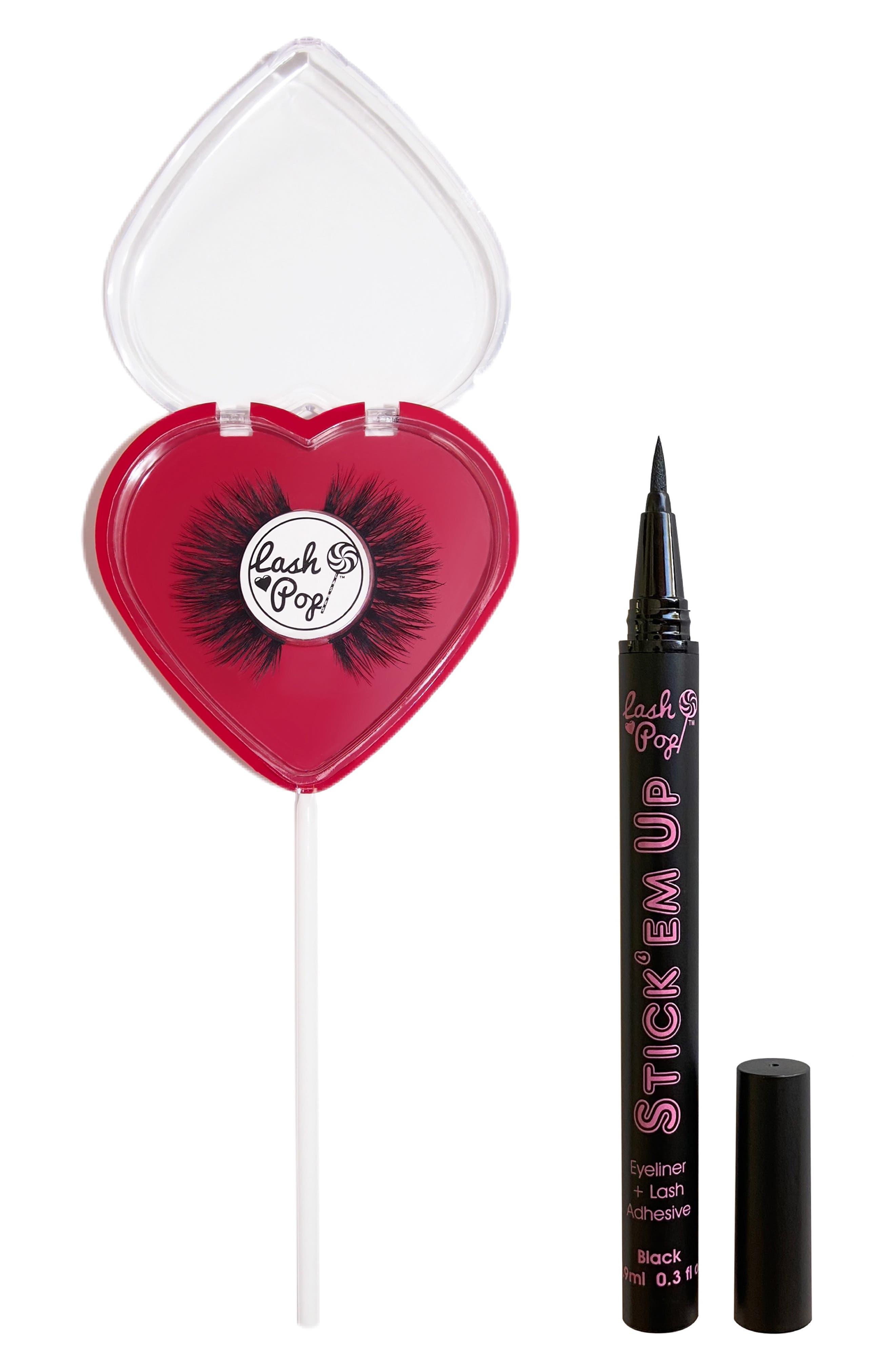 Sexy Love False Eyelashes & Stick 'Em Up 2-In-1 Eyeliner & Lash Adhesive Set