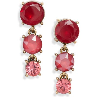 Stella + Ruby Crystal Drop Earrings