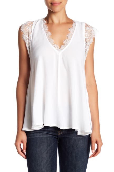 Image of Free People Lovin' on You Lace Trim Blouse