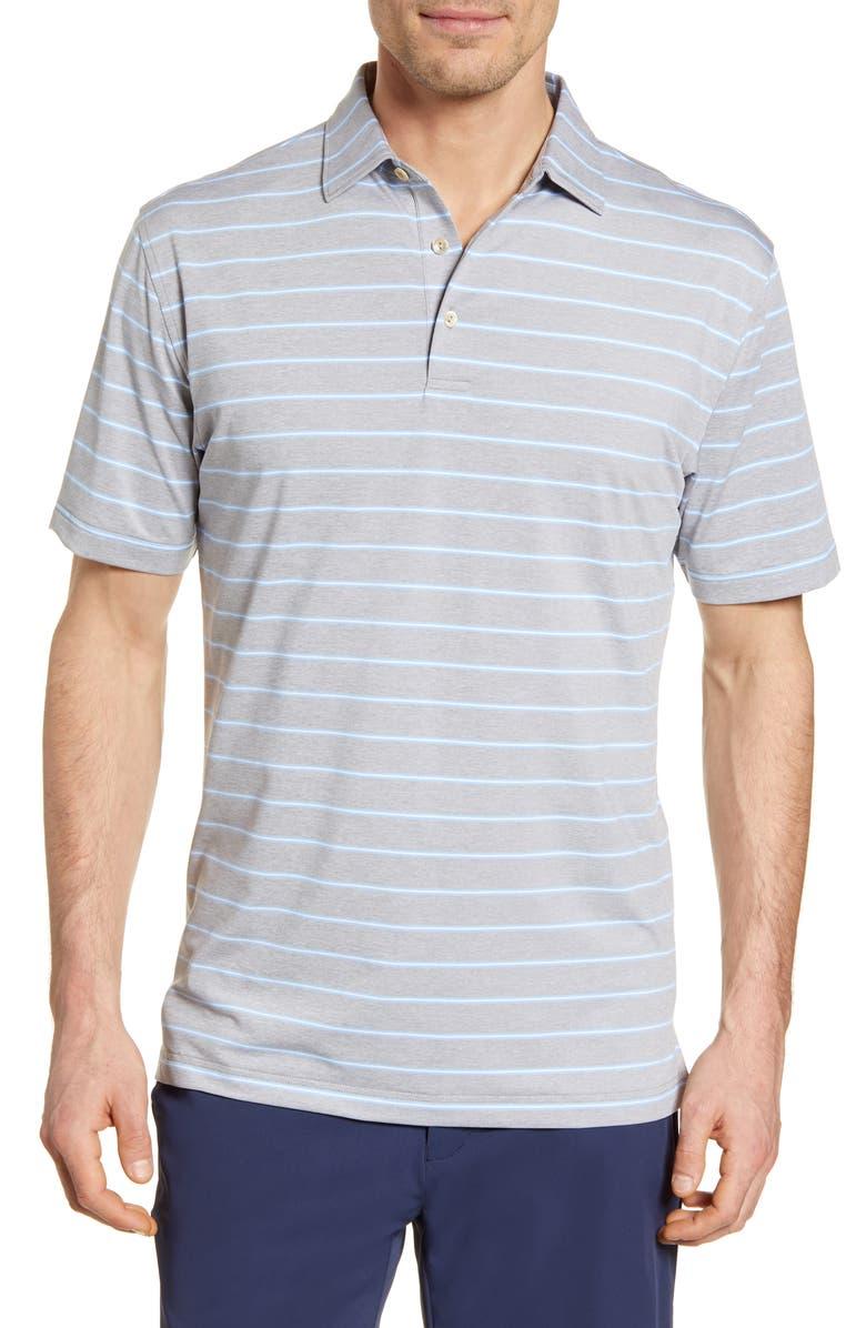 PETER MILLAR Sean Stretch Jersey Polo, Main, color, LAKE BLUEDNU