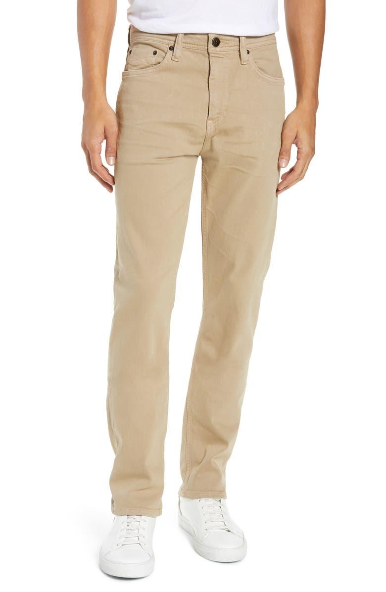 REVTOWN Sharp Slim Fit Jeans, Main, color, KHAKI