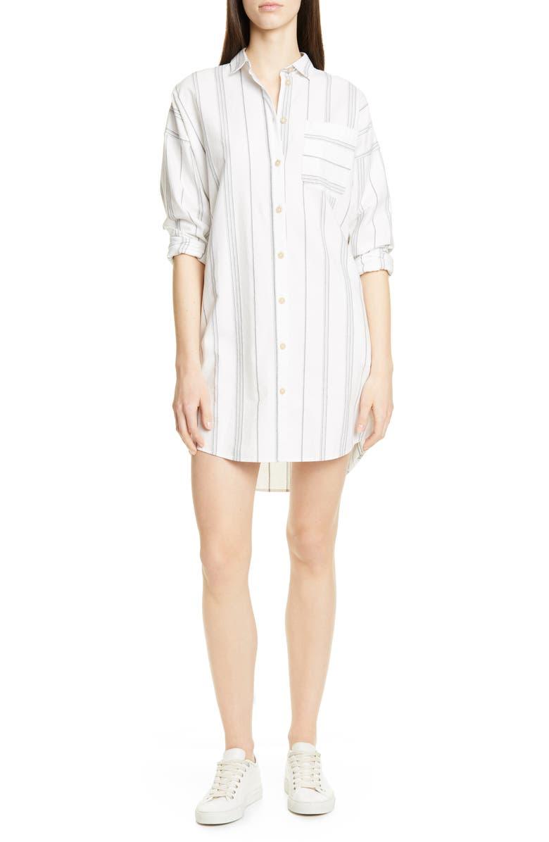 ATM ANTHONY THOMAS MELILLO Stripe Shirtdress, Main, color, 900