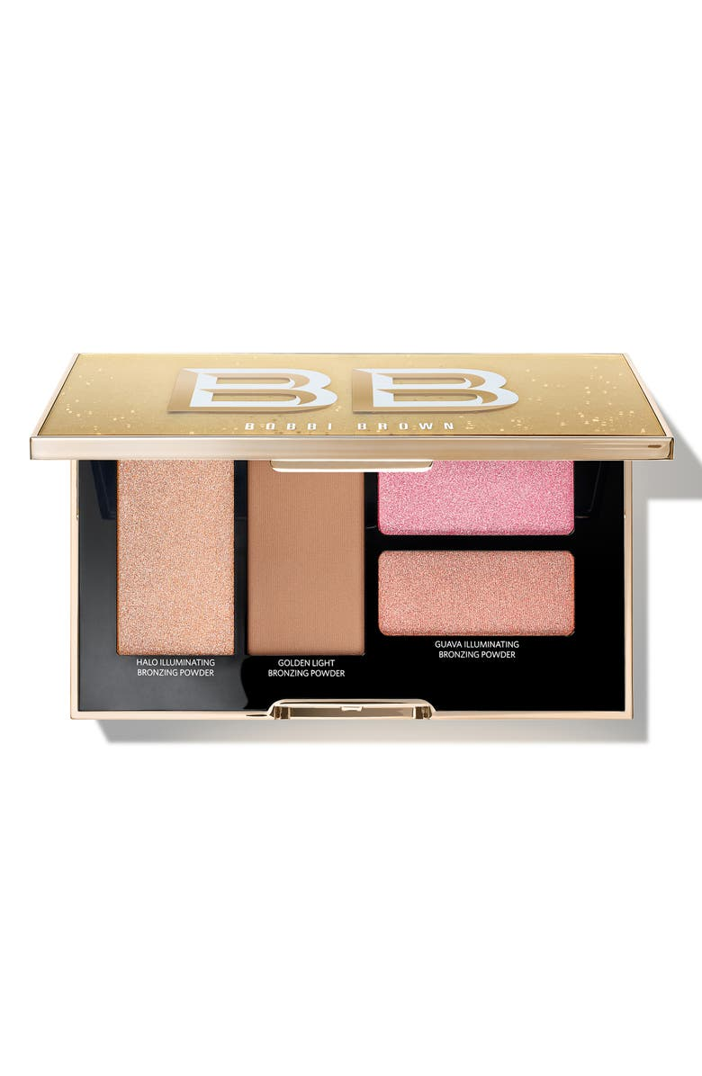 BOBBI BROWN Take It To Glow Highlight & Bronzing Powder Palette, Main, color, 000