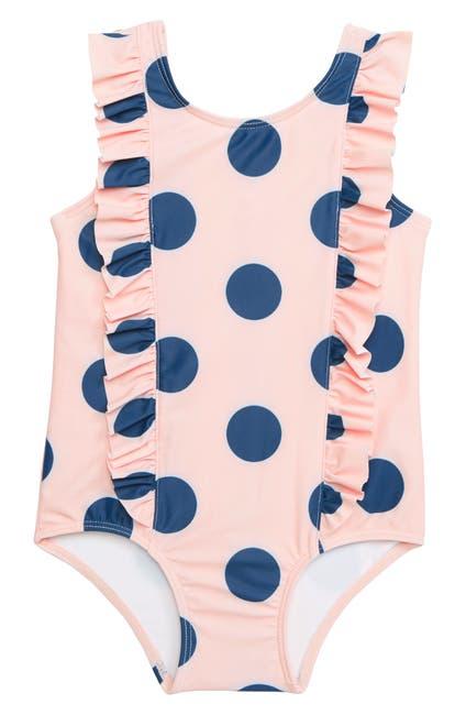 Image of Tucker + Tate Polka Dot Ruffle One-Piece Swimsuit